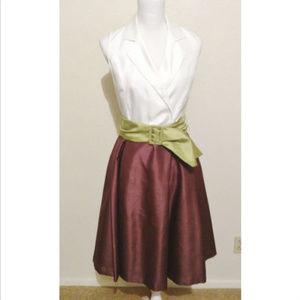 Dressbarn sz 4 faux wrap lined light dress
